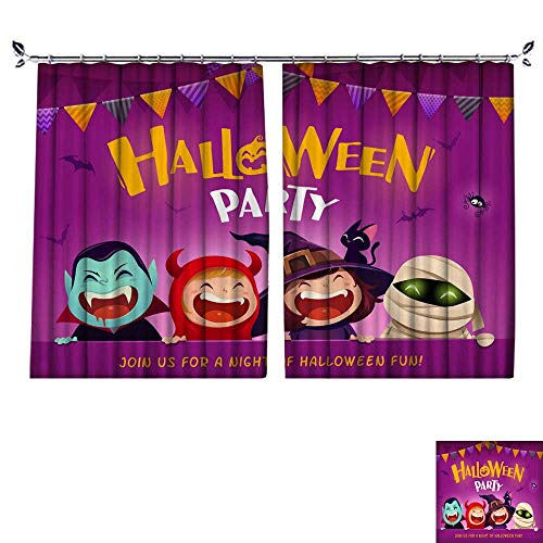 DragonBuildingMaterials Decorative Curtains for Living Room Halloween Party