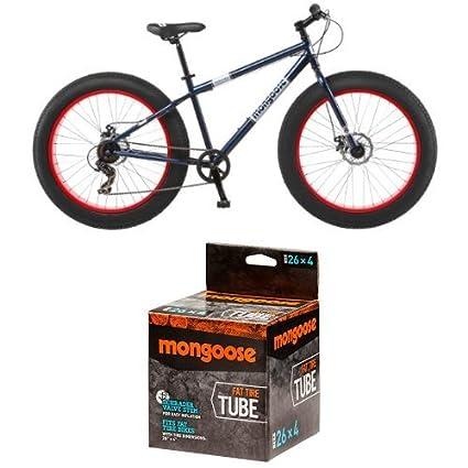 b5743ca335b Mongoose Men's Dolomite Fat Boys Tire Cruiser Bike, Blue, 26 inch and  Mongoose MG78253