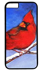 Cardinal Bird Art Painting Masterpiece Limited Design PC Black Case for iphone 6 plus by Cases & Mousepads by supermalls