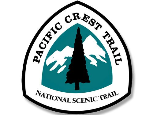 American Vinyl Sign Shaped Pacific Crest Trail National Scenic Trail Sticker (Hike Historic Hiking pct) (Crest Sticker)