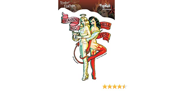 Kirsten Easthope Heavens No Hell Yes Pinup Girls Sticker // Decal JA402