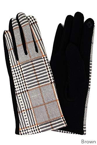ScarvesMe Plaid Checker Smart Touch Gloves