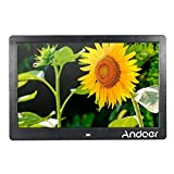 Andoer Digital Photo Picture Frame with MP3 MP4 E-book Calendar Function with Remote Controller (13 inch/black)