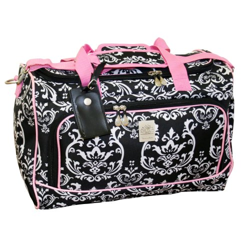 jenni-chan-damask-city-duffel-black-pink-one-size