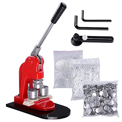 (VEVOR Button Maker 2.28Inch 58mm Button Badge Maker Punch Press Machine with 500 Pcs Circle Button Parts and Circle Cutter (58MM 500P))