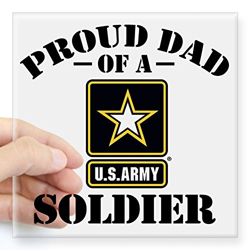 Army Dad Decal (CafePress - Proud U.S. Army Dad Square Sticker 3
