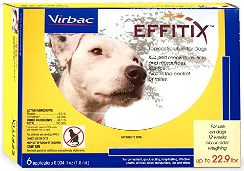 Effitix Topical solution for Dogs Up to 22.9 lbs. 6 (6 Month Frontline Top)