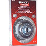 Lincoln KH290 3 x 5/8-11 Crimped Wire Cup Brush Wheel .014 Wire 12K RPM Welding