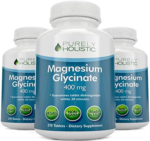 Magnesium Glycinate 400mg - 100% More 270 Magnesium Tablets (not Capsules), Highly Bioavailable, Non Buffered, Vegan and Vegetarian - Improved Sleep, Stress Relief & Cramp Defense 7