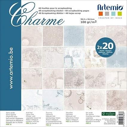 Artemio Pack 40 fulles Scrapbook Charme: Amazon.es: Hogar