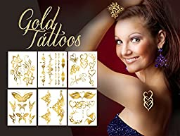 Metallic Tattoos-Whimsical Collection