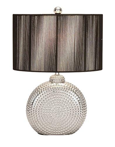 Aspire Arati VIII Table Lamp Pair, Silver/Black (Lamp Table Aspire)