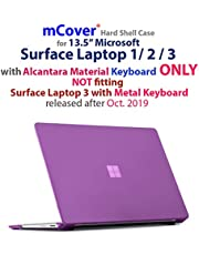 iPearl mCover Hard Shell Case for 13.5-inch Microsoft Surface Laptop Computer (NOT Compatible with Surface Book and Tablet) (Purple)