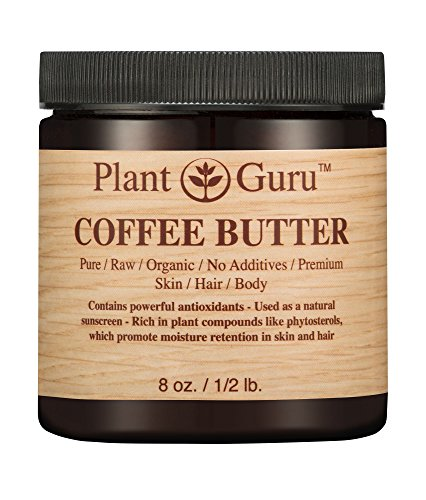 Coffee Butter 8 oz. 100% Flawless Raw Fresh Natural Cold Pressed. Skin Body and Hair Moisturizer, DIY Creams, Balms, Lotions, Soaps.
