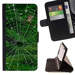Momo Phone Case / Flip Funda de Cuero Case Cover - Web Naturaleza Ara?a - HTC One M7
