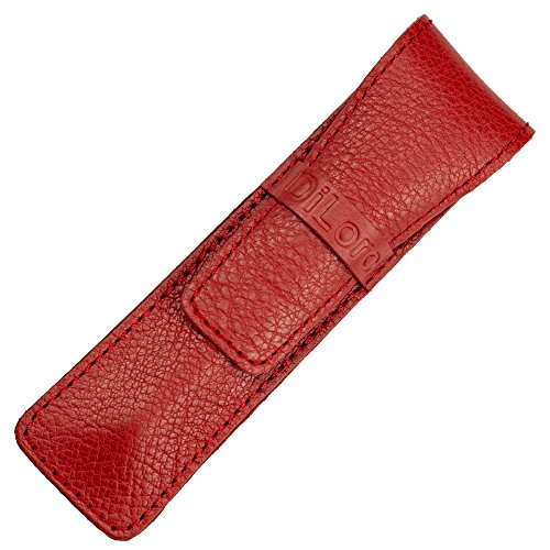 Diloro e-Cigarette Case Pencil Holder Full Grain Thick Buffalo leather Single Pen Pouch (Grain Leather Single)