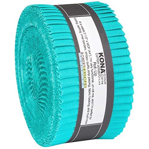 Kona Cotton Solids Splash Roll Up 40 2.5-inch Strips Jelly Roll Robert Kaufman Fabrics RU-802-40