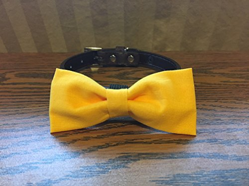 Yellow-Dog Bow Tie by Creations by Glo