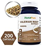 Best Valerian Root 1000mg 200 Caps (NON-GMO & Gluten Free) – Naturally Aids Sleep, Aids Anxiety, Helps With Stress Management – Made in USA – 100% MONEY BACK GUARANTEE – Order Free Risk! Review