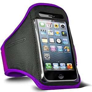 Fone-Case Samsung Galaxy Stratosphere II I415 Adjustable Sports Fitness Jogging Arm Band Case (Purple)