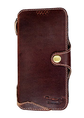 Yogurt for Samsung Galaxy S9 (5.8 Inch) Genuine Leather Wallet Cases Cover Handmade Oil Leather