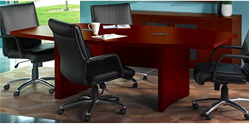 Conference Table with Boat Surface in Cherry Finish (120 W x 48 (Aberdeen Low Wall Cabinet)