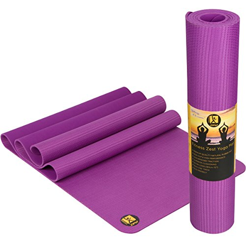 Zest Yoga Mat ✮ Premium Quality Non-Slip Open-Cell Natural Rubber Yoga Mat ✮ Unbelievable Grip Also When Wet! ✮ Extremely Comfortable ✮ Extra Long & 5mm Thick ✮ Durable, Non-Toxic & Eco-Friendly