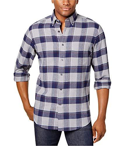 Club Room Men's Buffalo Flannel Shirt (Navy White, S) from Club Room