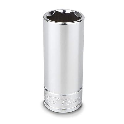 Capri Tools 15 mm Deep Socket, 1/4-Inch Drive, 6-Point, Metric: Home Improvement