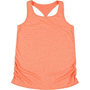 New Balance Little Girls' Athletic Tank Top, Orange/Pink Cross Dye, 6