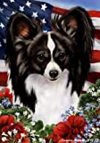 Papillion Dog Breed Patriotic House Flag 28 x 40 Inches Review
