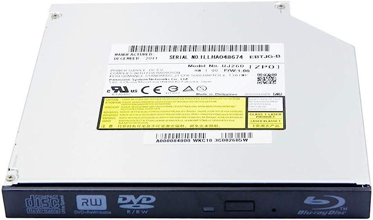 Internal Blu-ray Burner Player Optical Drive Replacement for Asus Laptop X551 X551M K55 K55A K53E K52F N53S N56V N56VZ X53E K50 K45 X55 X53S K53 6X 3D BD-RE 8X DVD+-R DL CD-RW Writer Replacement