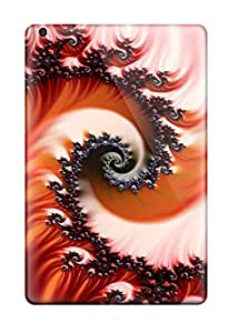 Protective Tpu Case With Fashion Design For Ipad Mini (red Fractal)