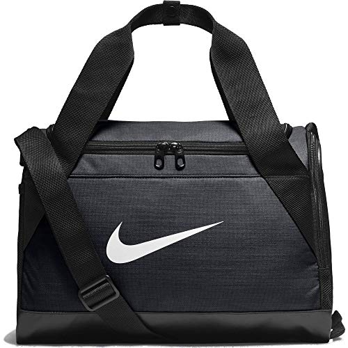 NIKE Brasilia Training Duffel Bag, Black/Black/White, X-Small ()