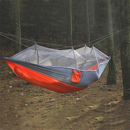 ZEIYUQI Doppel Camping Hängehängematte im Freien Faltbare Baum Zelte mit Moskitonetz Reise Wandern Camping für Paddocks Höfe,Schwarz
