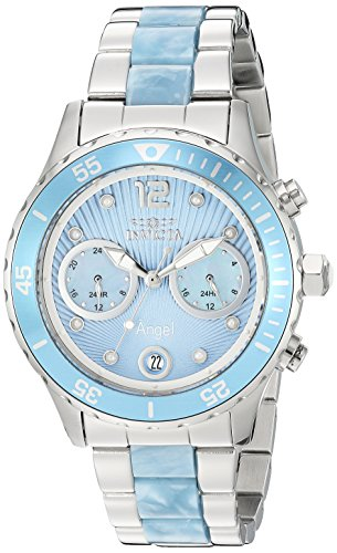 Invicta Women's Angel Quartz Watch with Two-Tone-Stainless-Steel Strap, 20 (Model: 24704)