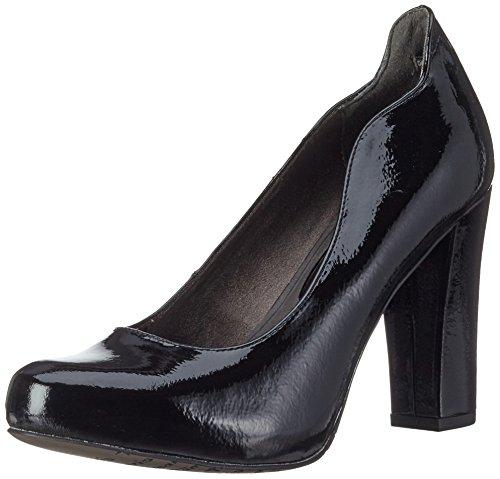 Tamaris Women's 22439 Closed Toe Heels, Black, 3 UK Black (Black Patent 018)
