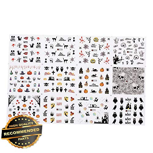 Gatton Premium New 1pc/12sets Nail Manicure Decals Halloween Stickers Set Nail Art DIY Tools U2L9 | Style MNCRSET-301122361 ()