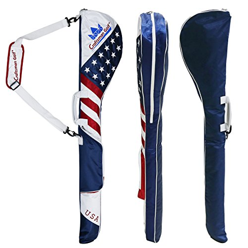 Craftsman Golf Stars and Stripes American USA US Flag Club Case Sunday Bag Red White Blue For 6-7 Clubs 49'' by Craftsman Golf (Image #7)