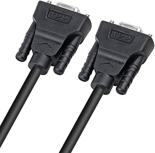 Black) DTECH DB9 9 Pin Serial Cable 5ft Male to Male RS232 Straight Through(1.5m