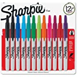 Sharpie 32707 Retractable Permanent Markers - Fine Point - Resist Fading and Water - Marks on Paper, Plastic, Metal, 12 Units per Box, Pack of 1 Box, Assorted Colors