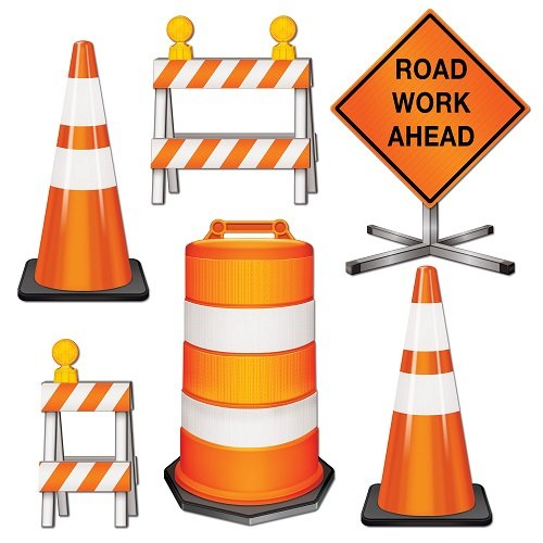 Beistle 54376 Road Crew Cutouts, 11