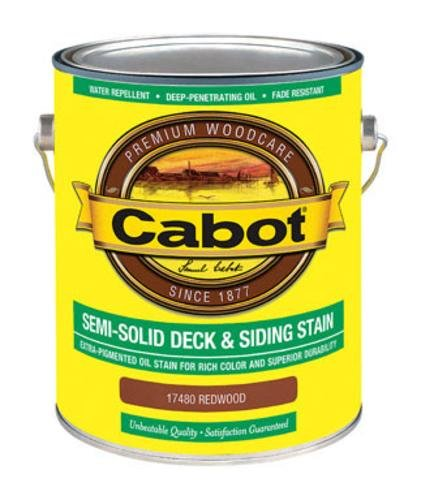 CABOT SAMUEL 17480-07 Gallon, Redwood, VOC, Semi-Solid Deck & Siding Stain (Cabot Semi Solid Stain)