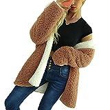 Clearance Womens Coat Cinsanong Ladies Artificial Wool Tops Fashion Dichroic Winter Outerwear Parka Warm Jacket