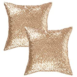 Pillow Cover With Sequin & Comfy Satin