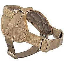 yisibo Tactical Service Dog Harness Vest Nylon Adjustable K9 Patrol Military Training Dog Vest with Handle for Small Large Dog