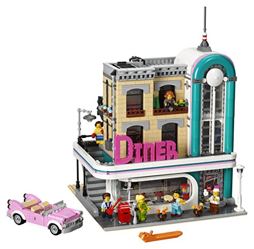 LEGO Creator Expert Downtown Diner 10260 Building Kit, Model Set and Assembly Toy for Kids and Adults (2480 Piece) ()