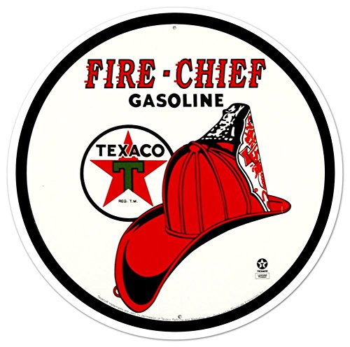 Texaco Fire Chief Tin Sign 12 x 12in (Tin Chief Fire)