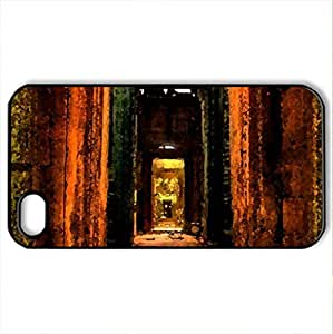 corridor architecture - Case Cover for iPhone 4 and 4s (Watercolor style, Black)