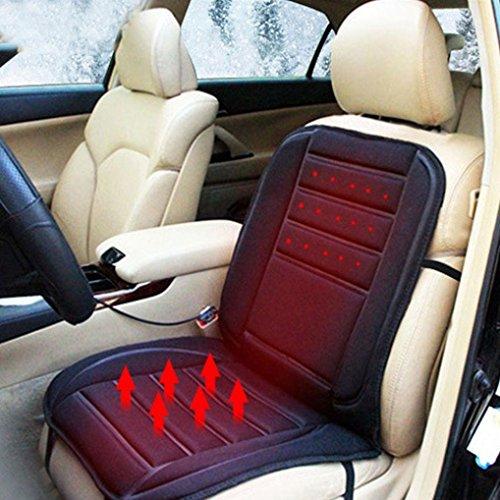 DZT1968 Black Car Heated Comfortable Seat Cushion Cover A...